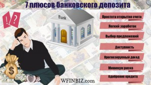Преимущества банковского депозита