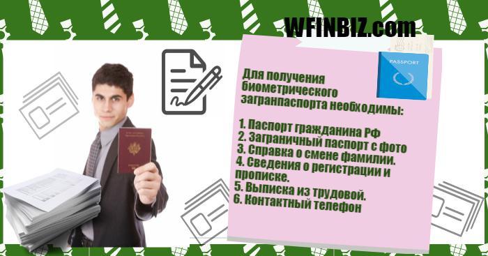 документы на биометрический паспорт