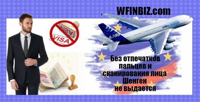 Отпечатки и сканирование для Шенгена
