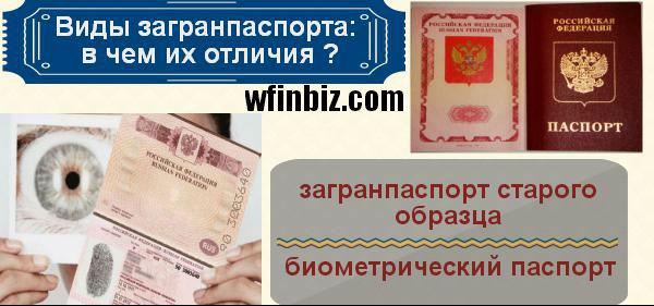Виды паспорта РФ